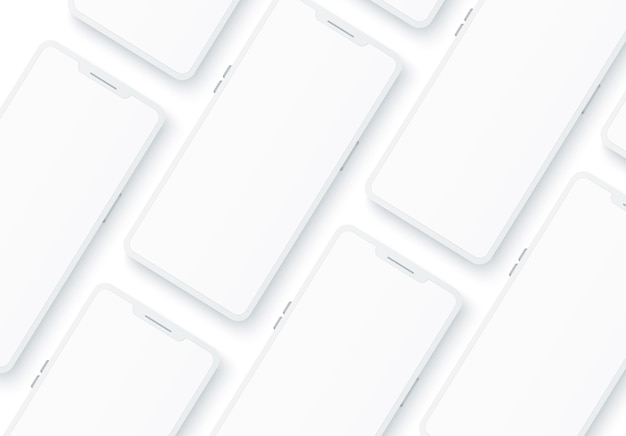 Patrón blanco realista smartphone sin marco.