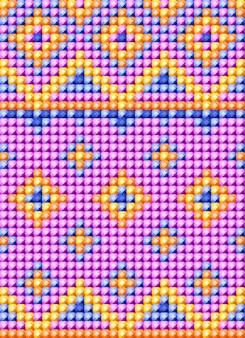 Patrón de bordado de diamantes.