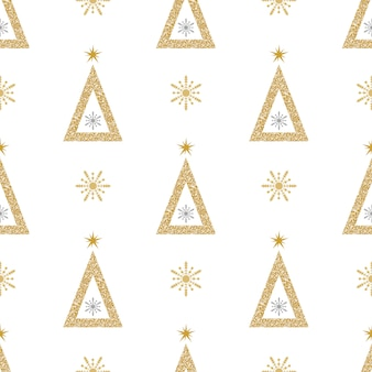 Patrón de brillo navideño
