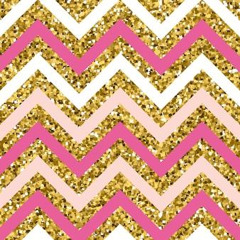 Patrón de brillo en zigzag con efecto plateado brillante