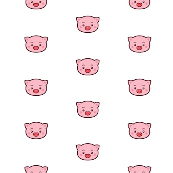 Patrón de cabeza de cerdo.