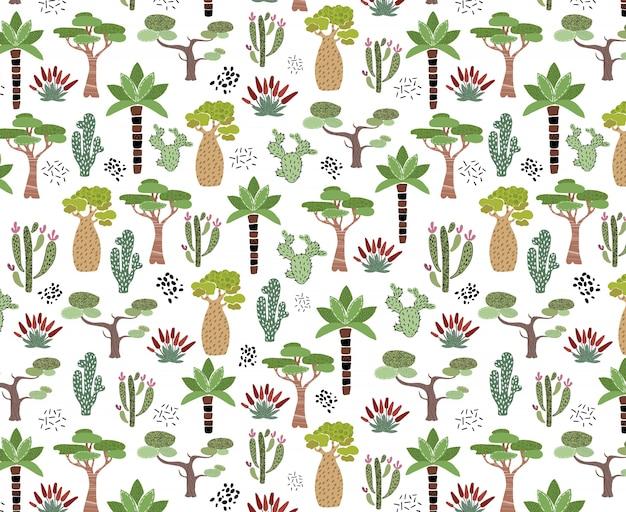 Patrón de cactus africano