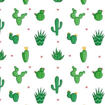 Patrón de cactus