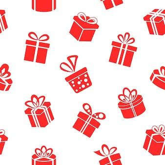 Patrón de cajas de regalo rojo transparente