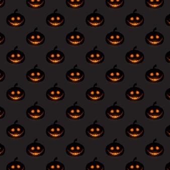 Patrón de calabaza de halloween