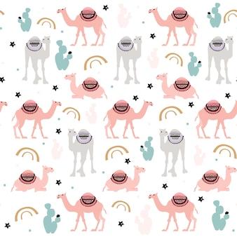 Patrón de camello de impresión