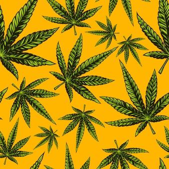 Patrón de cannabis sin costuras
