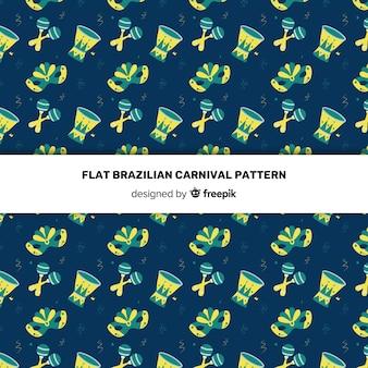 Patrón carnaval brasileño oscuro