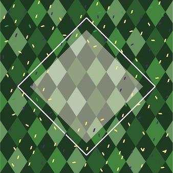 Patrón de carnaval fondo verde