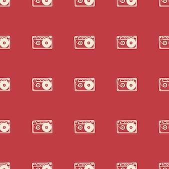 Patrón de cassette, ilustración musical. portada creativa y de lujo