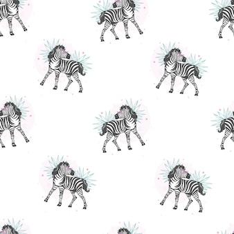 Patrón de cebra, estampado safari para niños.