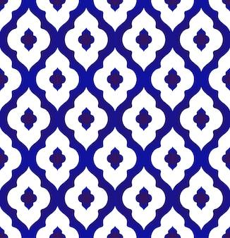Patrón de cerámica de estilo islámico