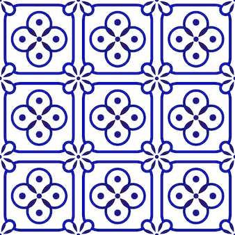 Patrón de cerámica de porcelana