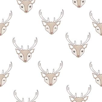 Patrón de ciervo sin costuras