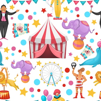 Patrón de circo gitano