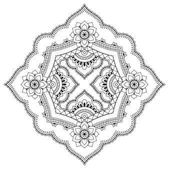 Patrón circular en forma de mandala. adorno decorativo en estilo étnico oriental. esquema de dibujo a mano doodle ilustración.