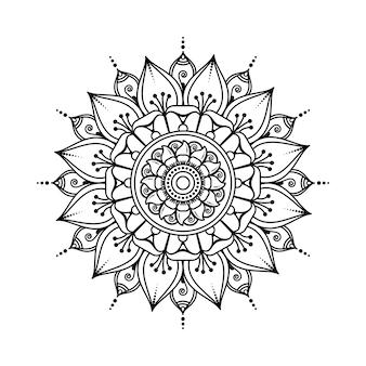 Patrón circular en forma de mandala. adorno decorativo en estilo étnico oriental