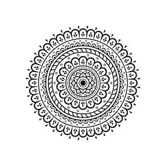 Patrón circular en forma de mandala