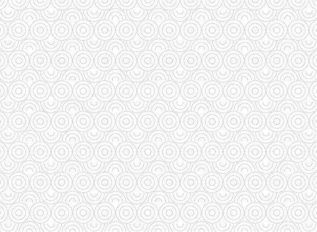 Patrón de círculo abstracto de fondo de decoración mínima.