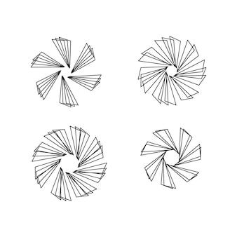 Patrón de círculo sunburst