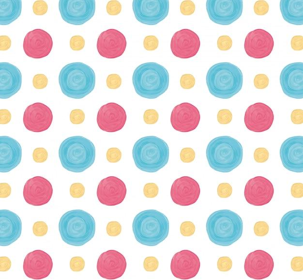 Patrón de círculos de acrílico colorido con colores pastel