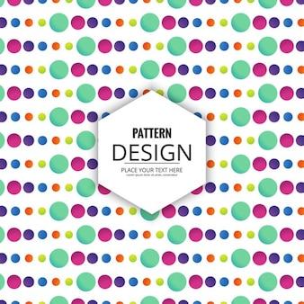 Patrón de círculos de colores de diferentes tamaños