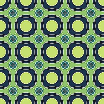 Patrón de círculos retro inconsútil