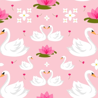 Patrón de cisne de estilo elegante