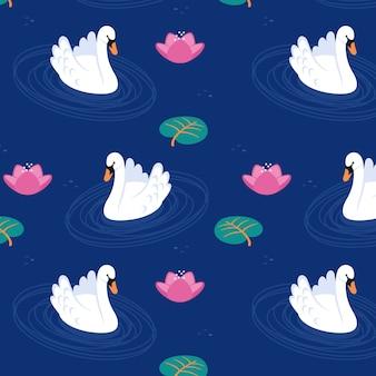 Patrón de cisne refinado