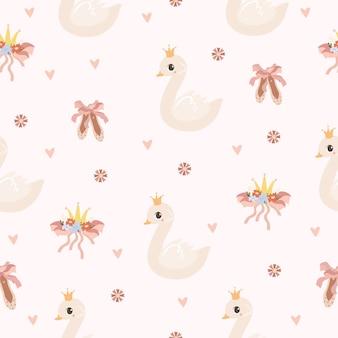 Patrón de cisne tierno