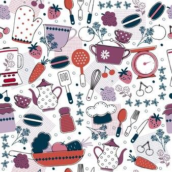 Patrón de cocina abstracto
