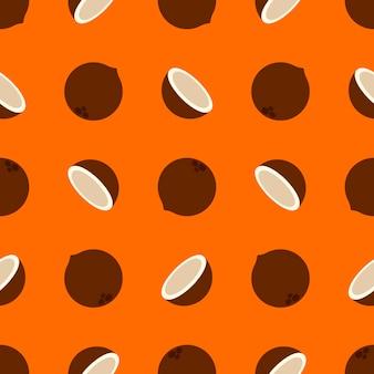 Patrón de coco en naranja