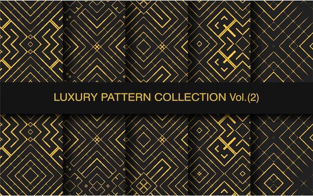 Patrón de colección con forma geométrica de lujo.