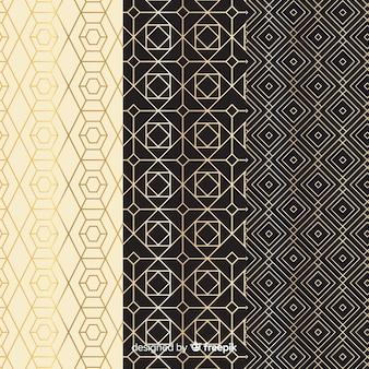 Patrón de colección vintage de lujo geométrico