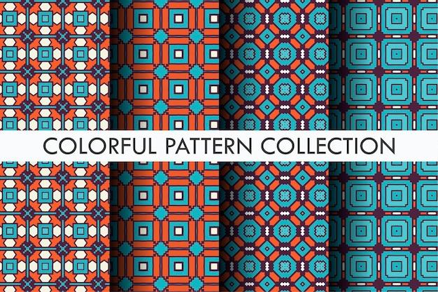 Patrón de colores con estilo de motivo abstracto