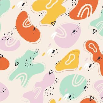 Patrón de colores de formas abstractas