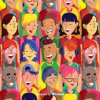 Patrón de colores de los jóvenes.