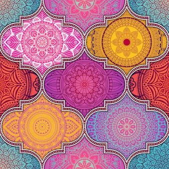 Patrón colorido abstracto étnico