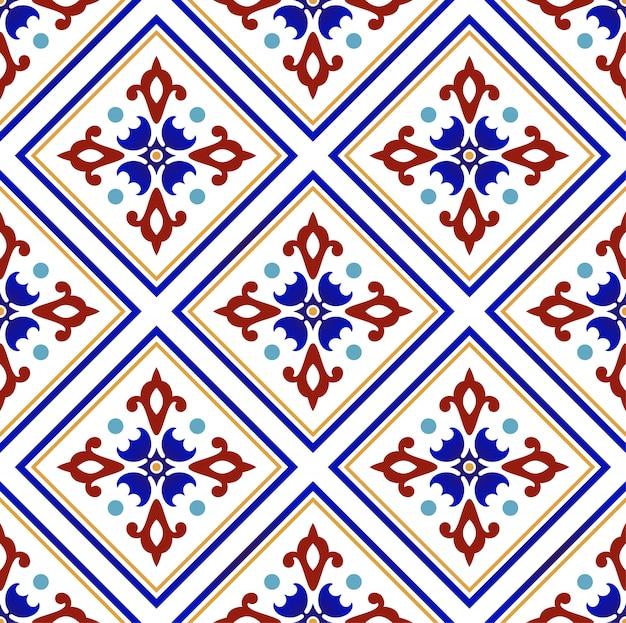 Patrón colorido floral abstracto