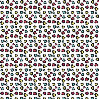 Patrón colorido de huellas de animal