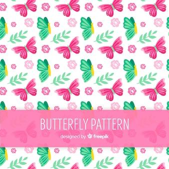 Patrón colorido mariposas