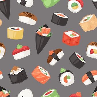 Patrón de comida japonesa