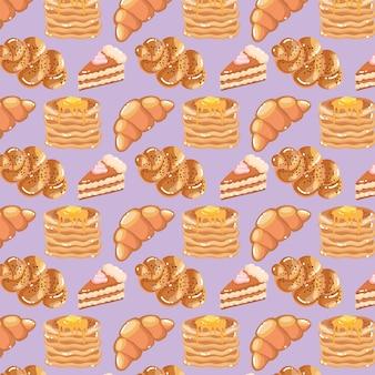 Patrón de comida de panadería