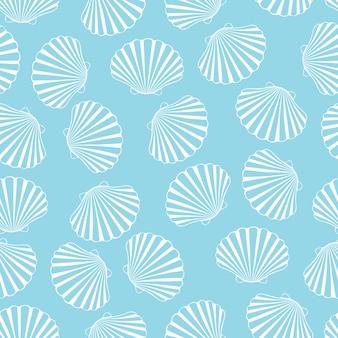 Sin patrón de conchas marinas.