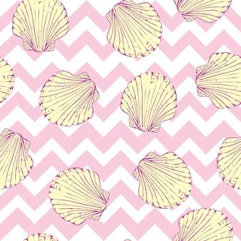 Sin patrón de conchas marinas