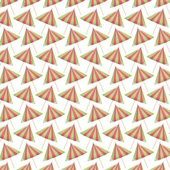 Patrón conjunto de paraguas de cóctel