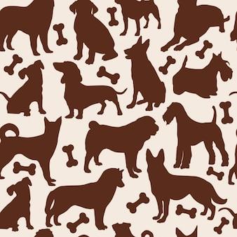 Patrón continuo de perros