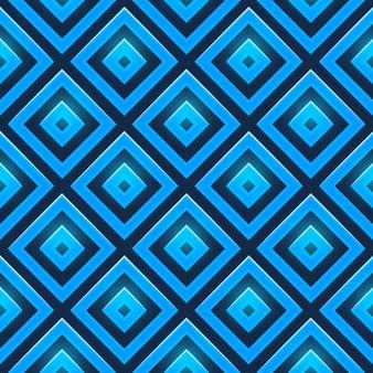 Patrón continuo de rombos azules