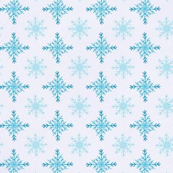 Patrón de copos de nieve de acuarela