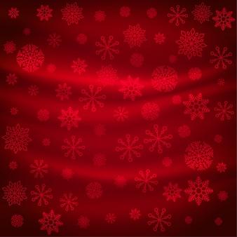 Patrón de copos de nieve roja